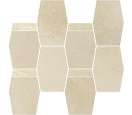Paradyż Naturstone Beige mozaika cięta hexagon mix 28,6x23,3 cm