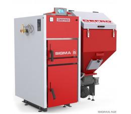 DEFRO SIGMA 48 kW-  kocioł z podajnikiem na węgiel kamienny typu groszek