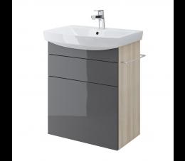 Cersanit szafka podumywalkowa Smart pod umywalkę Carina 60 cm, kolor: szary