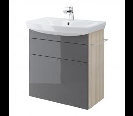 Cersanit szafka podumywalkowa Smart pod umywalkę Carina 70 cm, kolor: szary