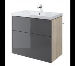 Cersanit szafka podumywalkowa Smart pod umywalkę Como 80 cm, kolor: szary