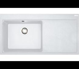 Franke zlewozmywak Mythos MTG 611 Fragranit+ biały polarny, komora z lewej