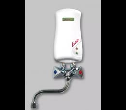 Elektromet przepływowy ogrzewacz Lider 3,5 kW biały z wylewką 150 mm