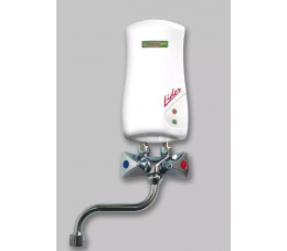 Elektromet przepływowy ogrzewacz Lider 4,5 kW biały z wylewką 150 mm