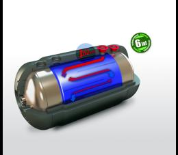 Elektromet wymiennik dwupłaszczowy TURBO WGJ-g 120l poziomy - polistyren