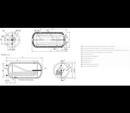 ELEKTROMET wymiennik wody WGJ-g max 250l poziomy z podwójną wężownicą (203-25-200)