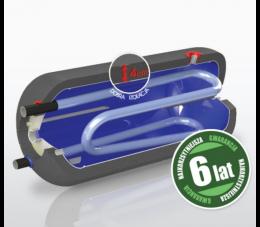 Elektromet wymiennik wody WGJ-g max 250l poziomy z podw. wężownicą i na podkowę