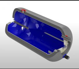 Elektromet zasobnik wody WGJ-g/Z 140l poziomy bez wężownicy