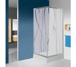 SANPLAST KN/TX5b-80 600-271-0220-38-501    kolor profili: srebrny błyszczący, wzór szyby:   grey