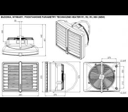 Sonniger Nagrzewnica wodna z wentylatorem 3-biegowym HEATER R2