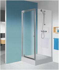 Sanplast Ścianka prysznicowa boczna SS0/TX5b-80 profil srebrny błyszczący szkło czyste
