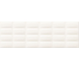 Opoczno Płytki 25x75 Parisen White Glossy Pillow Structure