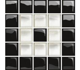 Opoczno Płytki Glass white/black mosaic b new 29,7x60