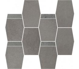 Paradyż Naturstone Grafit mozaika cięta hexagon mix 28,6x23,3 cm