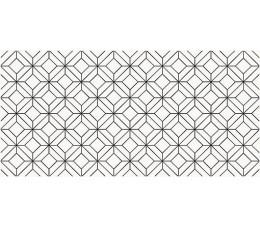 Opoczno Płytka Black Glamour Inserto Geo 29x59,3 cm