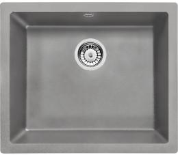 Deante Corda Flush Zlewozmywak 1-komorowy bez ociekacza - szary metalik