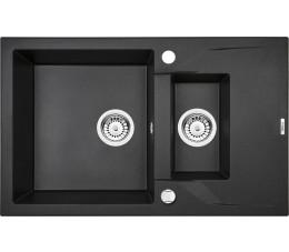 Deante Andante Zlewozmywak 1,5-komorowy z krótkim ociekaczem - grafitowy metalik