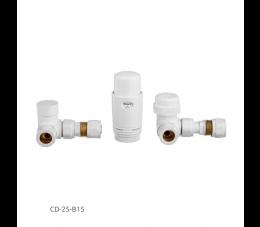Invena komplet termostatyczny osiowy, biały