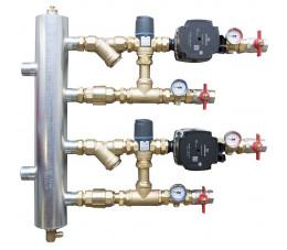 AFRISO Zestaw mieszający ze sprzęgłem hydraulicznym BPS 911, dwa człony z zaworem termostatycznym ATM 561