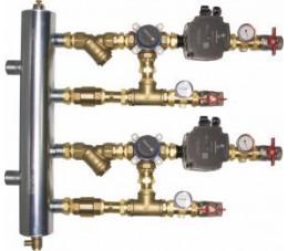 AFRISO Zestaw mieszający ze sprzęgłem hydraulicznym BPS, dwa człony z zaworem obrotowym ARV 384