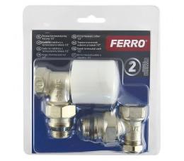 """FERRO komplet termostatyczny kątowy 1/2"""" ZTB02"""