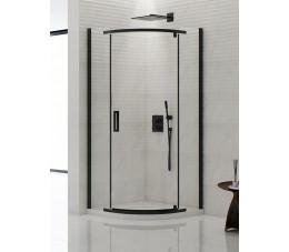 NEW TRENDY New Komfort Black 80x80x195, szkło: czyste K-0468