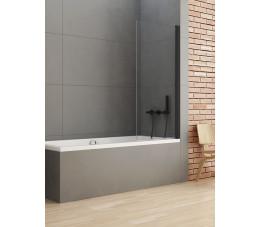 NEW TRENDY parawan nawannowy New Soleo Black 70x140, szkło: czyste P-0039