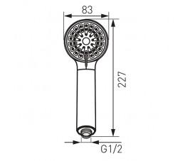 FERRO Cortessa słuchawka natryskowa 3-funkcyjna, chrom