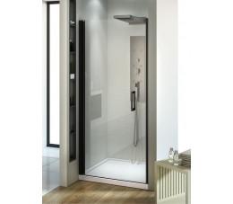 NEW TRENDY drzwi wnękowe Negra Black 80x195, szkło: czyste EXK-1193