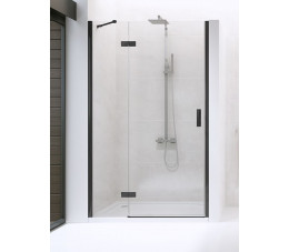 NEW TRENDY drzwi prysznicowe New Renoma Black 90x195 prawe, szkło: czyste D-0196A