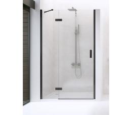 NEW TRENDY drzwi prysznicowe New Renoma Black 120x195 lewe, szkło: czyste D-0199A