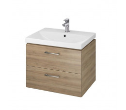 Cersanit SET 822 LARA CITY 50 (szafka wisąca + umywalka) kolor: orzech