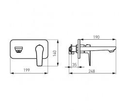 Ferro Adore bateria umywalkowa podtynkowa, biały/chrom