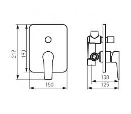 Ferro Adore bateria natryskowa podtynkowa, biały/chrom