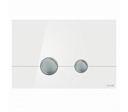 Cersanit przycisk STERO białe szkło
