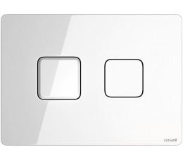 Cersanit przycisk pneumatyczny Accento Square, kolor: szkło białe