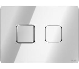 Cersanit przycisk pneumatyczny Accento Aquare, kolor: chrom błyszczący