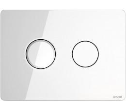 Cersanit przycisk pneumatyczny Accento Circle białe szkło