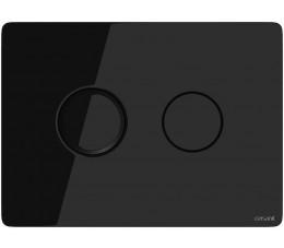 Cersanit przycisk pneumatyczny Accento Circle szkło czarne