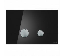 Cersanit przycisk Stero czarne szkło