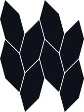 Paradyż uniwersalna mozaika nero Paradyż Torton 22,3 cm x 29,8 cm