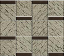 Paradyż uniwersalna mozaika szklana brown Paradyż Ramones 29,8 cm x 25,7 cm