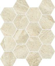 Paradyż Sunlight Stone Beige mozaika prasowana Hexagon 22 cm x 25,5 cm