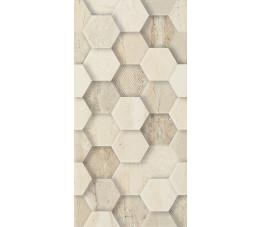 Paradyż Sunlight Stone Beige ściana dekor geometryk 30 cm x 60 cm