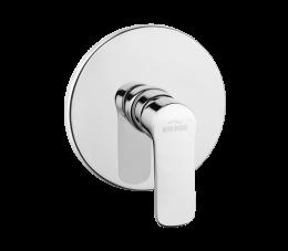 Invena Siros bateria natryskowa podtynkowa 1-funkcyjna, chrom