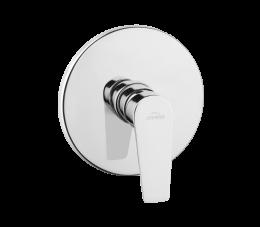 Invena Dokos bateria natryskowa podtynkowa 1-funkcyjna, chrom