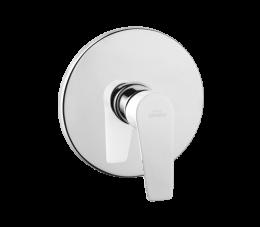 Invena Dokos bateria natryskowa podtynkowa 1-funkcyjna, biały/chrom