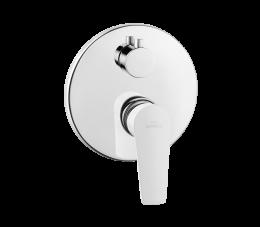 Invena Dokos bateria natryskowa podtynkowa 2-funkcyjna, biały/chrom