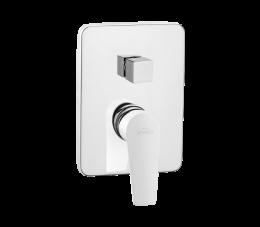 Invena Doko bateria natryskowa podtynkowa 2-funkcyjna, biały/chrom