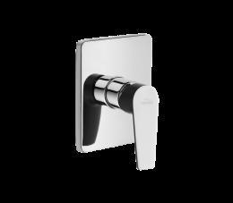Invena Dokos bateria natryskowa podtynkowa 1-funkcyjna, grafit/chrom